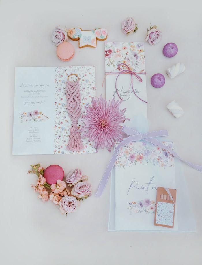 Modern Floral Christening Party on Kara's Party Ideas | KarasPartyIdeas.com