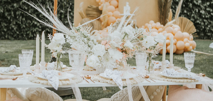 Boho Guest Table from a Muted Boho Birthday Picnic Party on Kara's Party Ideas | KarasPartyIdeas.com
