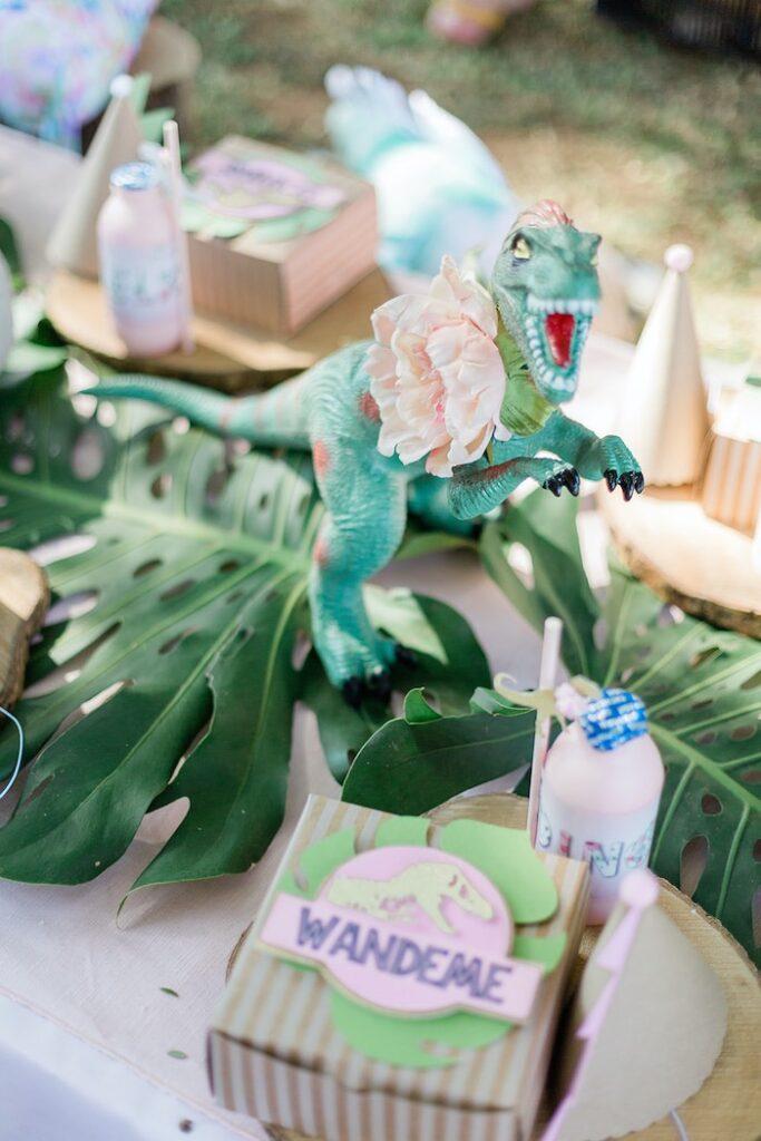 Pink & Gold Jurassic World Dinosaur Party on Kara's Party Ideas   KarasPartyIdeas.com