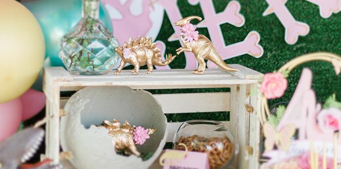 Pink & Gold Jurassic World Dinosaur Party on Kara's Party Ideas | KarasPartyIdeas.com