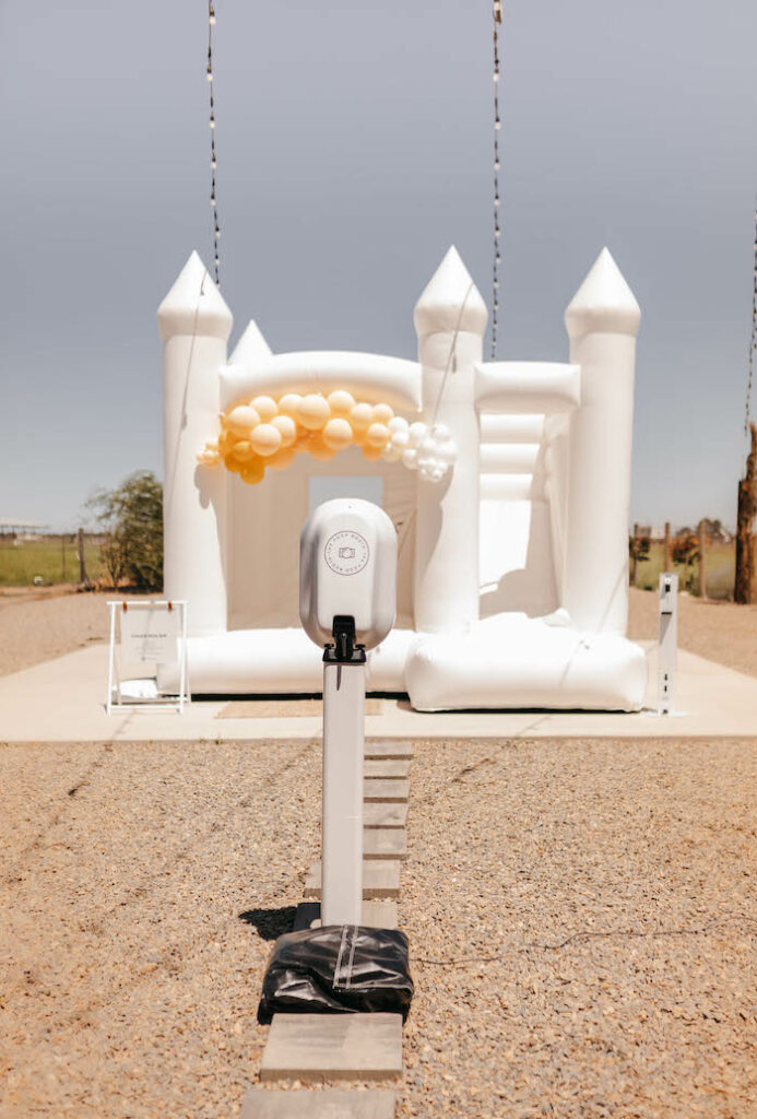 Bounce House from a Rustic Boho Wedding on Kara's Party Ideas | KarasPartyIdeas.com