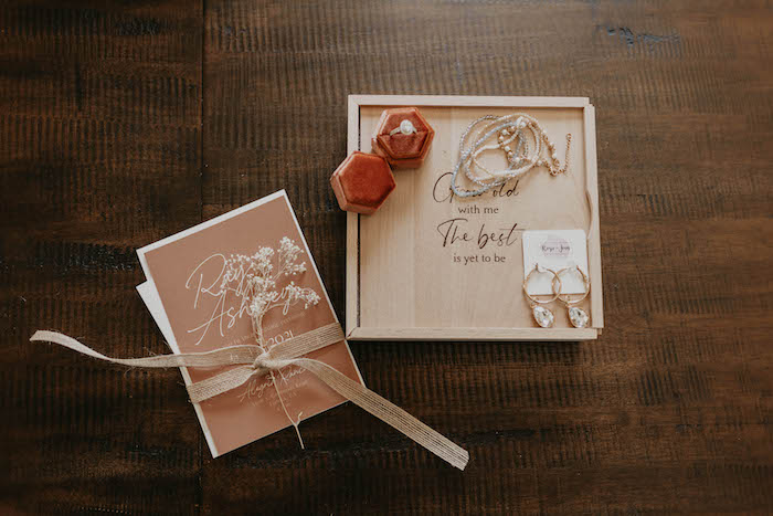Stationery from a Rustic Boho Wedding on Kara's Party Ideas | KarasPartyIdeas.com