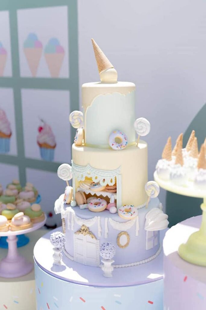 Sweet Shoppe Cake from a Sweet Tooth Birthday Party on Kara's Party Ideas | KarasPartyIdeas.com