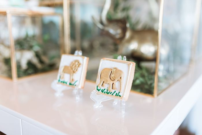 Safari Animal Cookies from a Wild ONE First Birthday Party on Kara's Party Ideas | KarasPartyIdeas.com