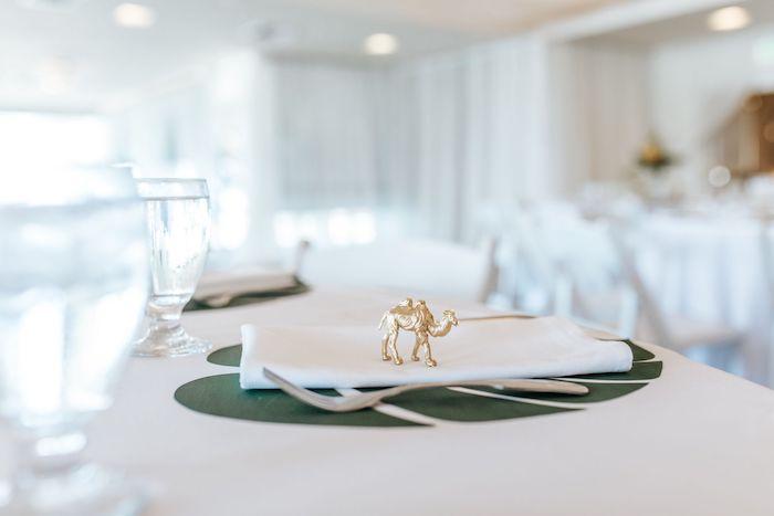 Safari Animal Table Setting from a Wild ONE First Birthday Party on Kara's Party Ideas | KarasPartyIdeas.com