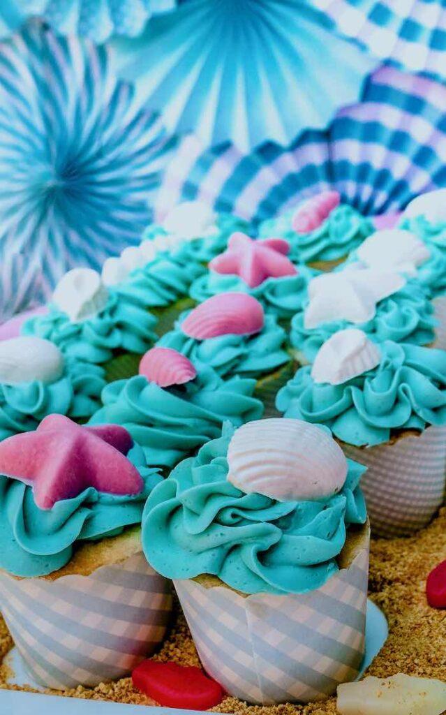Under the Sea Cupcakes from an Under the Sea Birthday Party on Kara's Party Ideas   KarasPartyIdeas.com