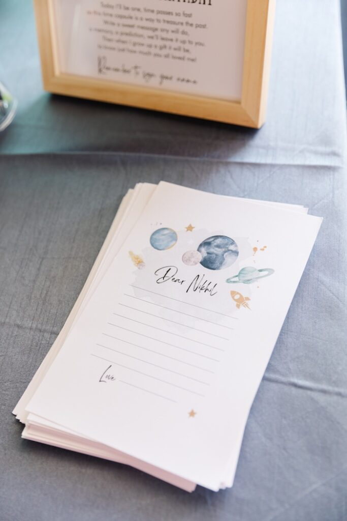 """Space Notes from a """"1st Trip Around the Sun"""" Stellar Birthday Party on Kara's Party Ideas 