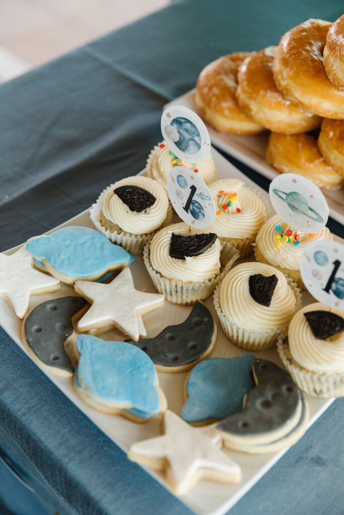 """Space Themed Desserts from a """"1st Trip Around the Sun"""" Stellar Birthday Party on Kara's Party Ideas 
