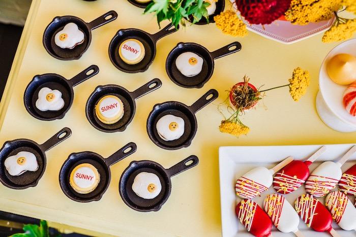 "Cupcakes from a ""Sunny Side Up"" Breakfast Birthday Party on Kara's Party Ideas | KarasPartyIdeas.com"