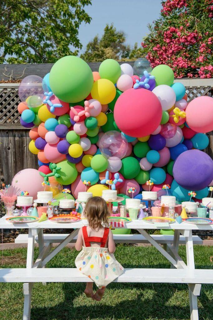 Colorful Nostalgic Birthday Party on Kara's Party Ideas | KarasPartyIdeas.com