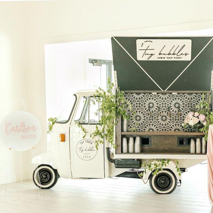 Vintage Truck Bar from a Dreamy Garden Baby Shower on Kara's Party Ideas | KarasPartyIdeas.com