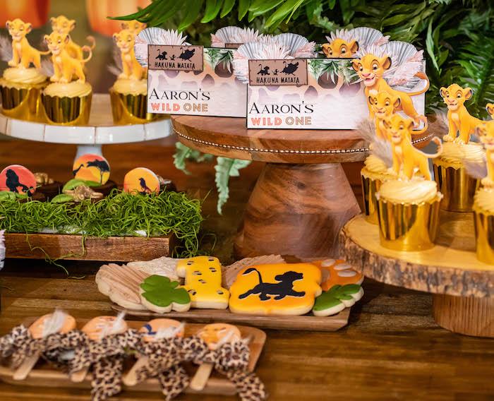 Lion King Desserts + Dessert Table from a Lion King Birthday Party via Kara's Party Ideas | KarasPartyIdeas.com