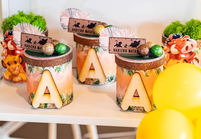 Hakuna Matata Chips from a Lion King Birthday Party via Kara's Party Ideas | KarasPartyIdeas.com