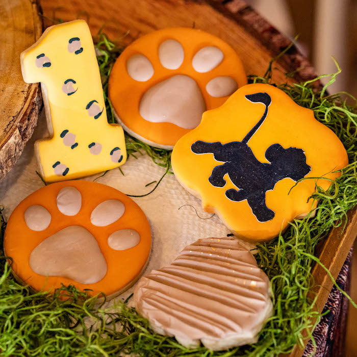 Lion King Cookies from a Lion King Birthday Party via Kara's Party Ideas | KarasPartyIdeas.com