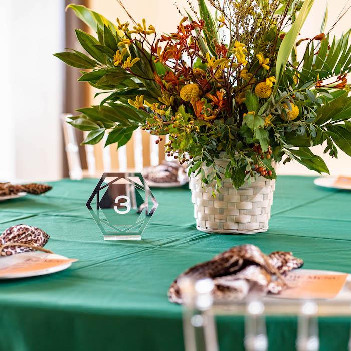 Guest Table from a Lion King Birthday Party via Kara's Party Ideas | KarasPartyIdeas.com