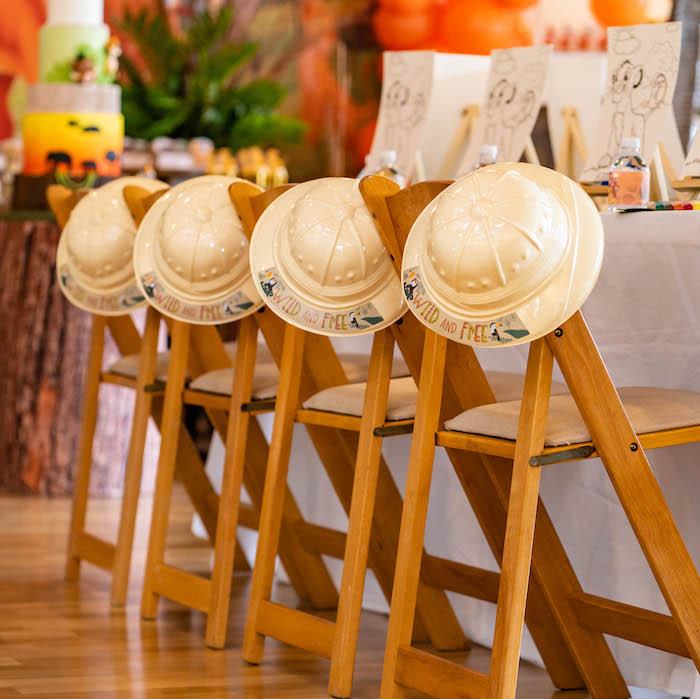 Safari Kid Table from a Lion King Birthday Party via Kara's Party Ideas | KarasPartyIdeas.com