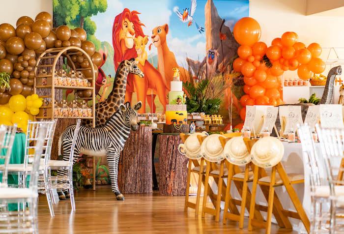 Lion King Dessert Table from a Lion King Birthday Party via Kara's Party Ideas | KarasPartyIdeas.com