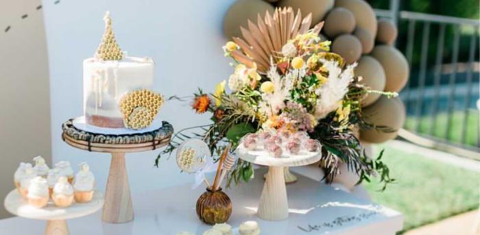 Neutral Boho Honey Bee Party on Kara's Party Ideas | KarasPartyIdeas.com