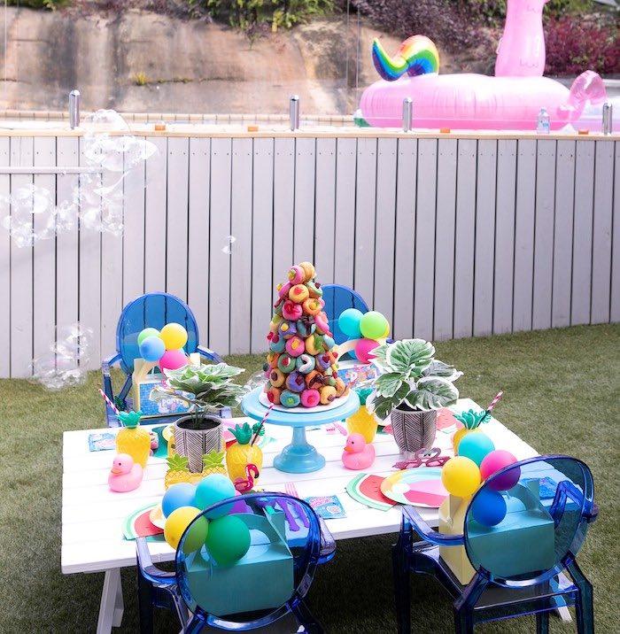 Palm Springs Pool Party on Kara's Party Ideas | KarasPartyIdeas.com