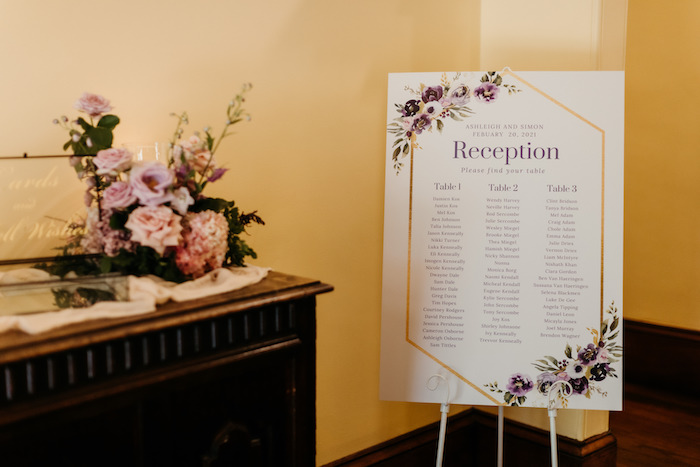 Seating Chart from a Romantic & Elegant Garden Wedding on Kara's Party Ideas   KarasPartyIdeas.com