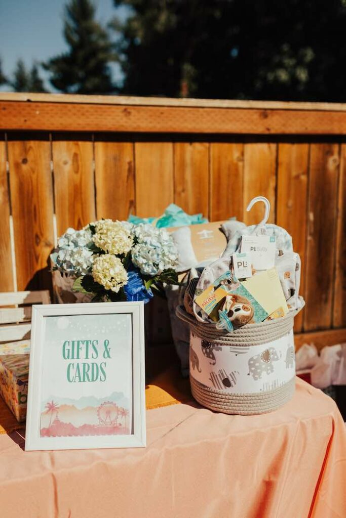 Gift Table from a Babychella Baby Shower on Kara's Party Ideas   KarasPartyIdeas.com