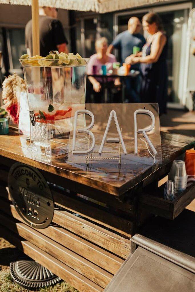 Bar from a Babychella Baby Shower on Kara's Party Ideas   KarasPartyIdeas.com