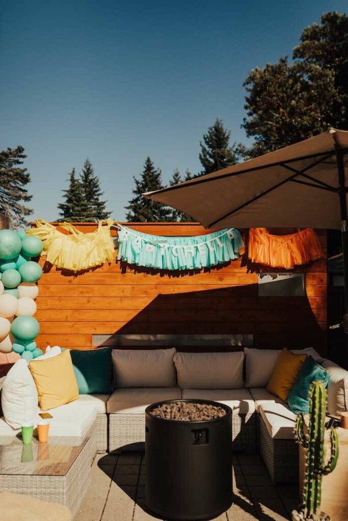 Coachella Lounge from a Babychella Baby Shower on Kara's Party Ideas   KarasPartyIdeas.com