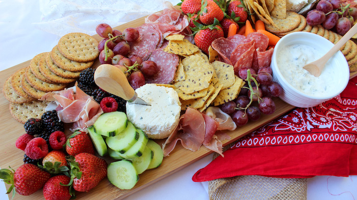 """Charcuterie Board from a """"Saddle Up & Celebrate"""" Cowboy + Western Birthday Party on Kara's Party Ideas 
