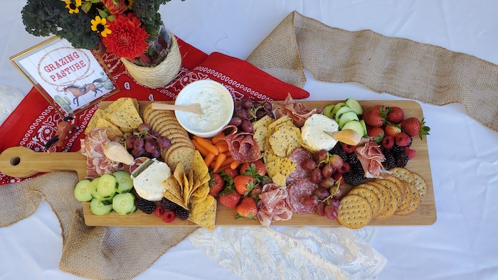 """Grazing Board from a """"Saddle Up & Celebrate"""" Cowboy + Western Birthday Party on Kara's Party Ideas 