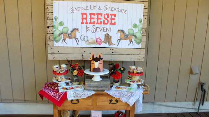 """Saddle Up & Celebrate"" Cowboy + Western Birthday Party on Kara's Party Ideas | KarasPartyIdeas.com"