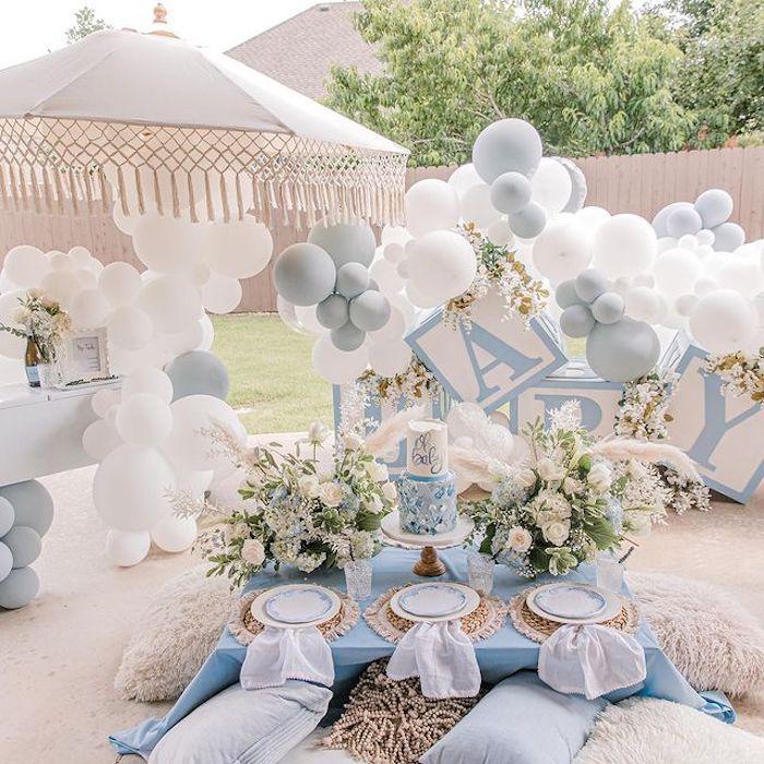 Backyard Bohemian Baby Shower on Kara's Party Ideas | KarasPartyIdeas.com