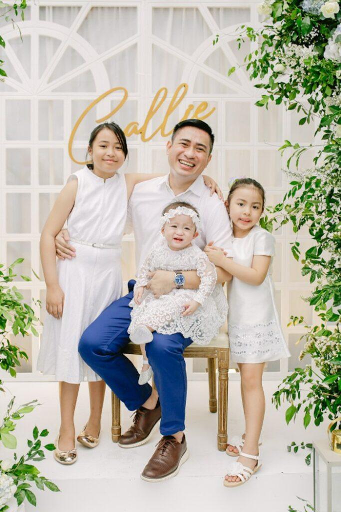 Elegant Dusty Blue & Gold Baptism on Kara's Party Ideas | KarasPartyIdeas.com