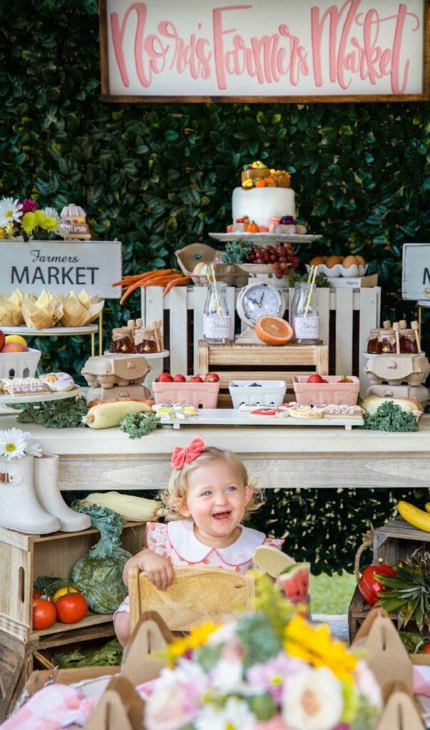 Farmers' Market Birthday Party on Kara's Party Ideas | KarasPartyIdeas.com