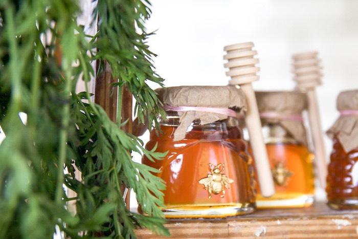 Honey Jar Favors from a Farmers' Market Birthday Party on Kara's Party Ideas | KarasPartyIdeas.com