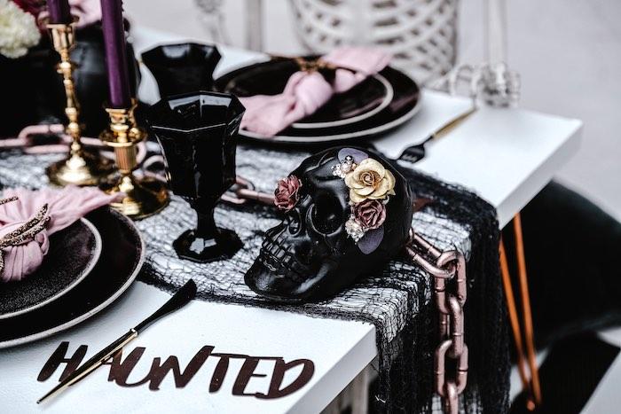 Glam Creepy Halloween Party on Kara's Party Ideas | KarasPartyIdeas.com