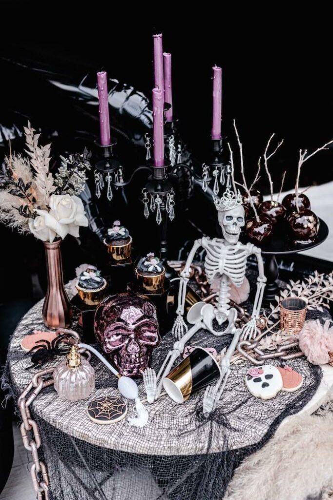 Halloween Dessert Table from a Glam Creepy Halloween Party on Kara's Party Ideas | KarasPartyIdeas.com
