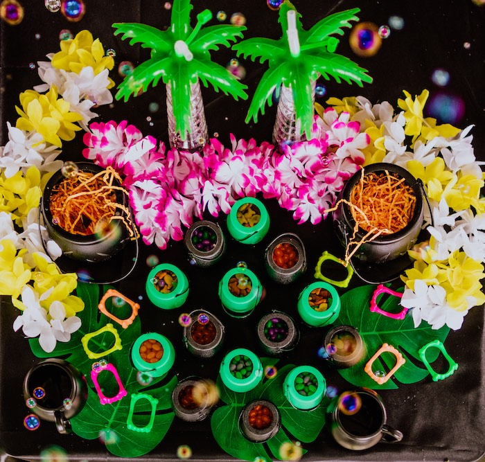 Snack Cauldrons from a Hotel Transylvania Monster Cruise Summer-ween Party on Kara's Party Ideas   KarasPartyIdeas.com
