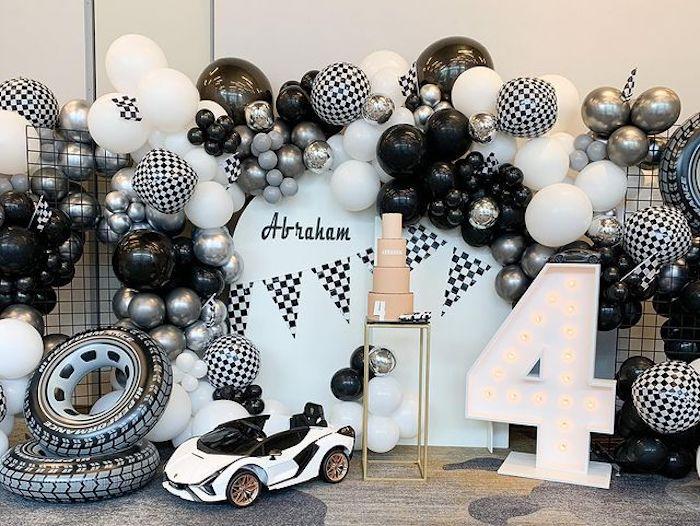 Monochromatic Lamborghini Car Party on Kara's Party Ideas | KarasPartyIdeas.com