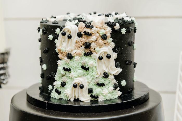 Halloween Cake from a Monster Mash Halloween Party on Kara's Party Ideas | KarasPartyIdeas.com