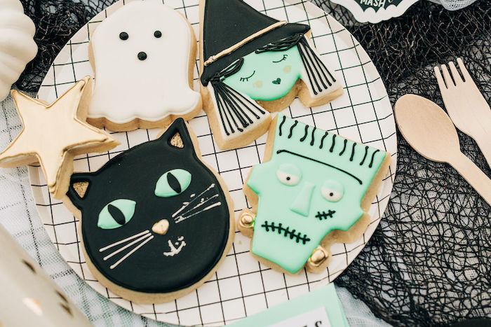 Halloween Sugar Cookies from a Monster Mash Halloween Party on Kara's Party Ideas | KarasPartyIdeas.com
