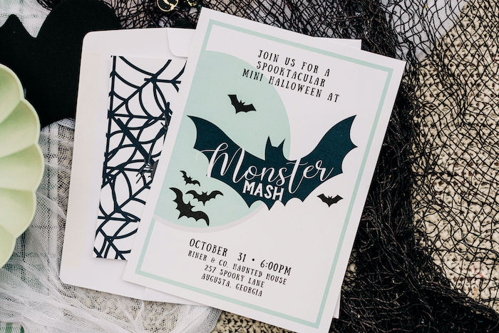 Monster Mash Party Invite from a Monster Mash Halloween Party on Kara's Party Ideas | KarasPartyIdeas.com