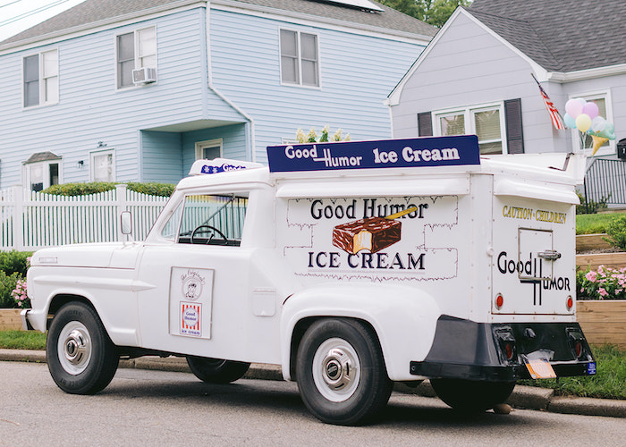 Ice Cream Truck from a Pastel Ice Cream Party on Kara's Party Ideas | KarasPartyIdeas.com