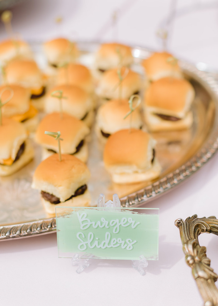 Sliders from a Pastel Ice Cream Party on Kara's Party Ideas | KarasPartyIdeas.com