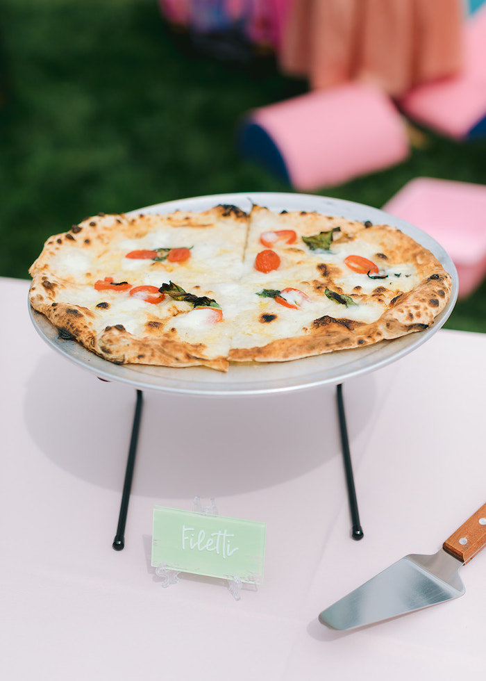Pizza from a Pastel Ice Cream Party on Kara's Party Ideas | KarasPartyIdeas.com
