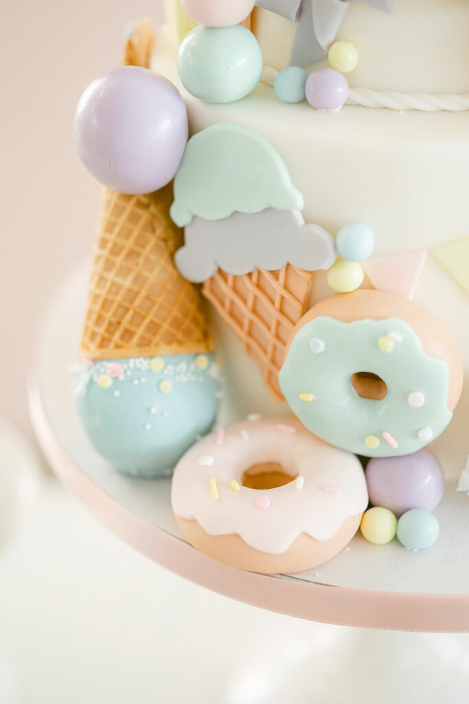 Sweet Themed Birthday Cake from a TWO Sweet 2nd Birthday Party on Kara's Party Ideas | KarasPartyIdeas.com