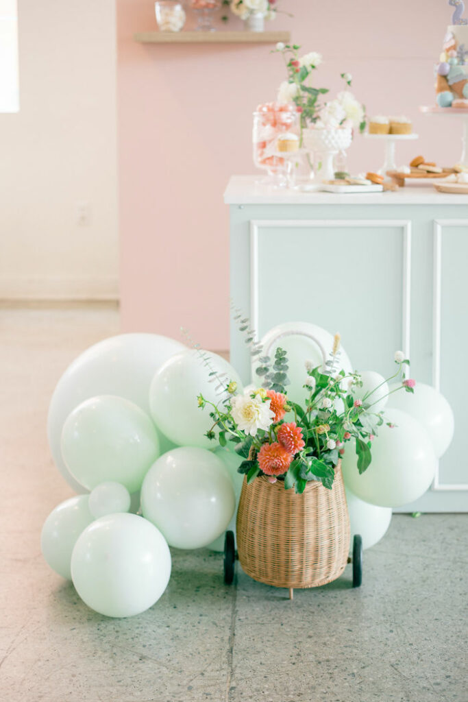 Balloons and Blooms from a TWO Sweet 2nd Birthday Party on Kara's Party Ideas | KarasPartyIdeas.com