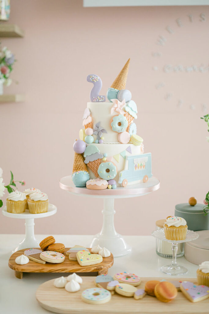 Sweet-inspired Birthday Cake from a TWO Sweet 2nd Birthday Party on Kara's Party Ideas | KarasPartyIdeas.com