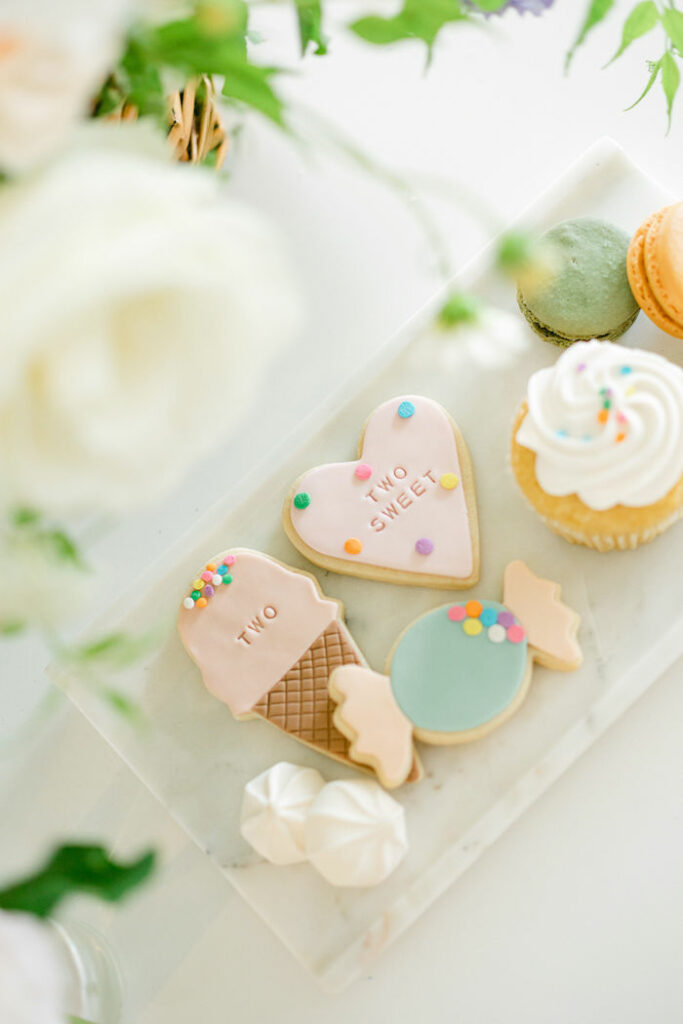 Sweet Themed Sugar Cookies from a TWO Sweet 2nd Birthday Party on Kara's Party Ideas | KarasPartyIdeas.com
