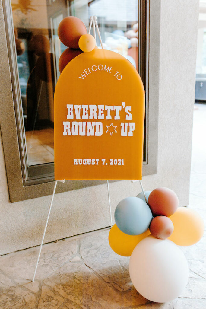 Acrylic Signage from a Toy Story Inspired Cowboy Roundup Party on Kara's Party Ideas | KarasPartyIdeas.com