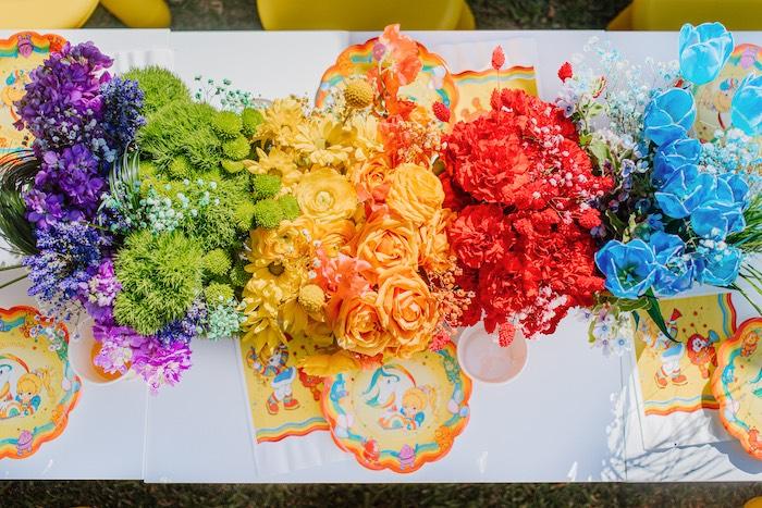 Vintage Rainbow Brite Birthday Party on Kara's Party Ideas | KarasPartyIdeas.com